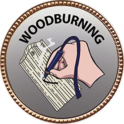 Keepsake Awards Woodburning Award, 1 inch Dia Gold Pin Creative Arts and Hobbies Collection: Toys & Games