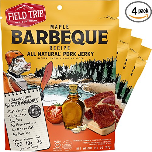 ee, High Protein, Maple Barbeque Pork Jerky, 2.2oz Bag, 4 Count ()