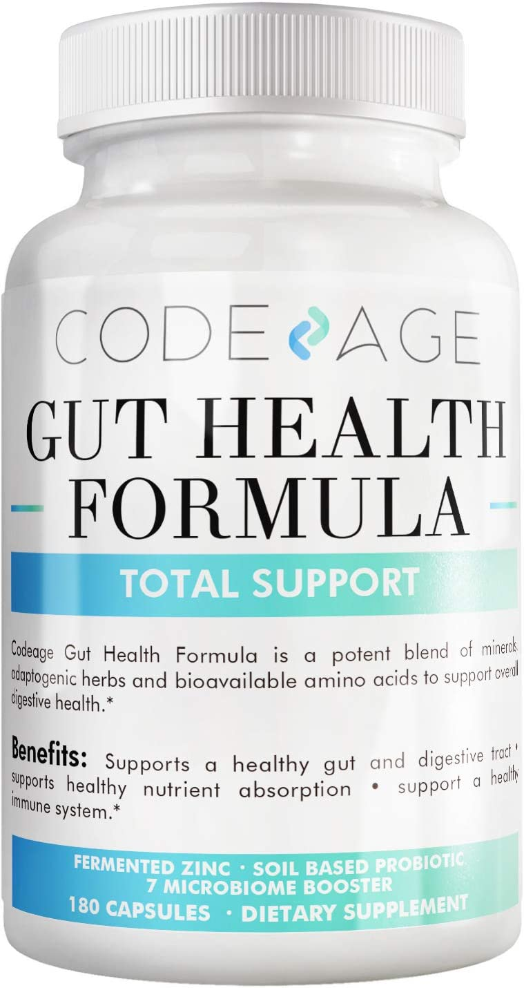 Codeage Leaky Gut Formula Supplements, Integrity Blend of L Glutamine Licorice Root DGL Marshmallow Root SBO Probiotics Prebiotics, Support Gut Lining Digestive Tract, 180 Capsules