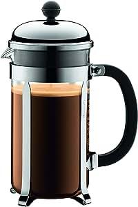 BODUM CHAMBORD 8 Cup Coffee Maker, Shiny, 1.0 L