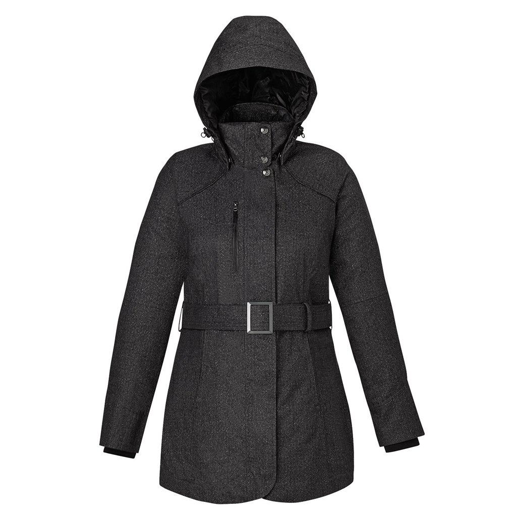 Ash City Ladies Enroute Insulated Jacket (X-Small, Carbon Heather)