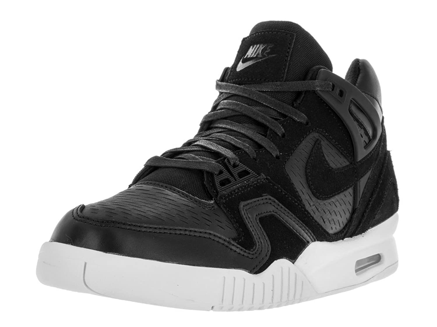 NIKE Men\'s Air Tech Challenge II Laser Tennis Shoe Black/Black/White