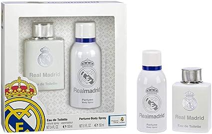 Real Madrid Set de Eau de Toilette para hombre y Spray de Cuerpo ...