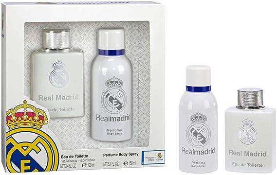 Real Madrid Set de Eau de Toilette para hombre y Spray de Cuerpo, para hombre: Amazon.es: Belleza