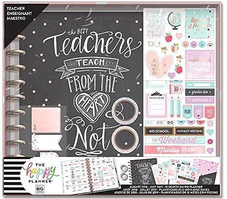 Amazon com: 2018-2019 BIG Happy Planner Box Kit, Teacher