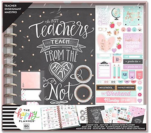 2018-2019 BIG Happy Planner Box Kit, Teacher Edition - Teach From the Heart - Big Teacher Planner, Create 365 Teacher Planner, Mambi Teacher Planner
