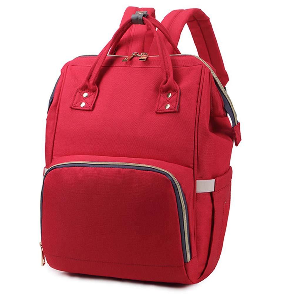 bolsa organizadora grande para el hombro para mam/á y pap/á color rojo Mochilas de pa/ñales multifunci/ón