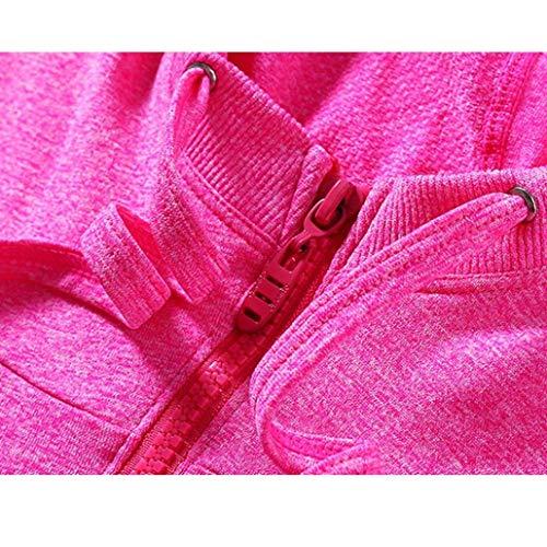 Cappotto Autunno Slim Cappuccio Lunga Cerniera Puro Manica Con Sweat Fit Colore Corto Mantello Giaccone Casual Pink Tasche Coulisse Laterali Donna Vintage Giacca xqtEwRX8
