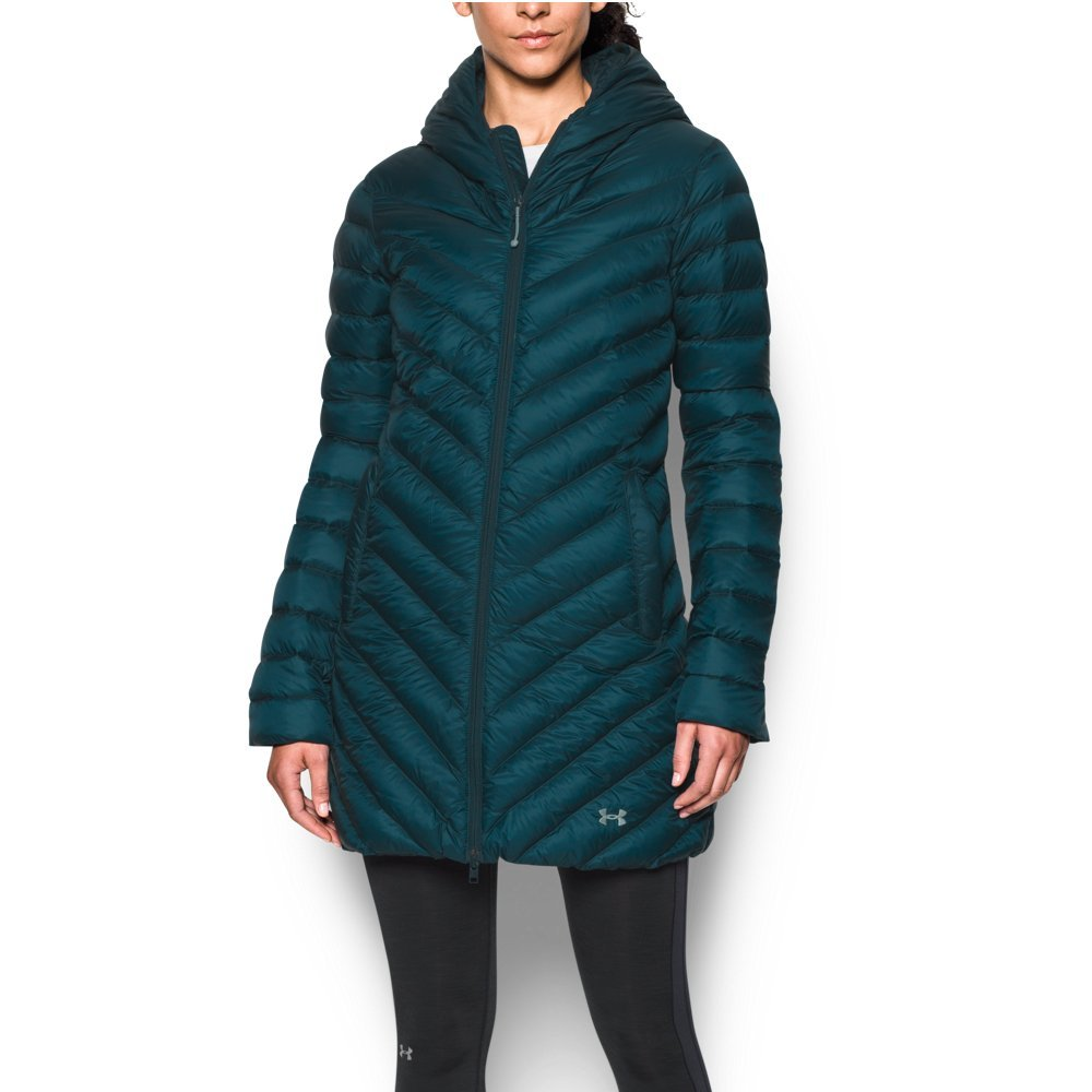 Under Armour Women's Storm ColdGear Infrared Uptown Parka, Nova Teal/Aqua Falls, Small by Under Armour (Image #1)