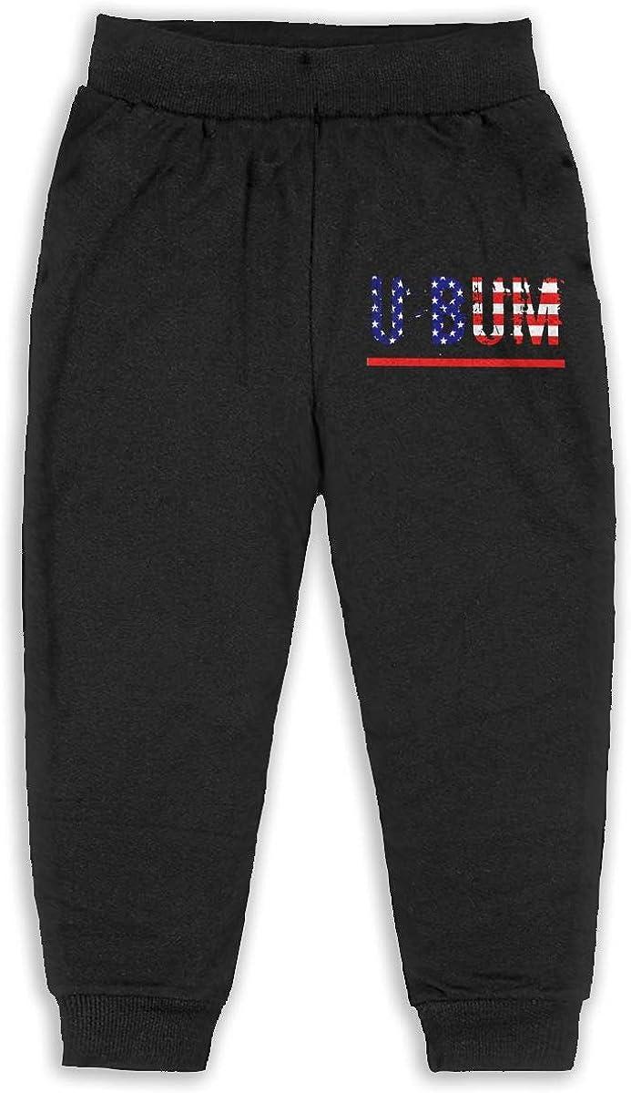 Child GHYNJUM American Flag U Bum Unisex 2-6T Autumn and Winter Cotton Fashion Trousers