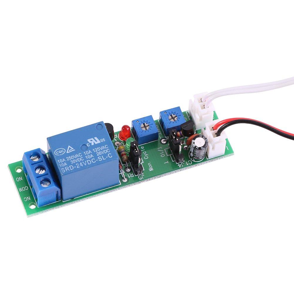 Dc 5v 12v 24v Adjustable Cycle Trigger Delay Timing Timer Relay On Off