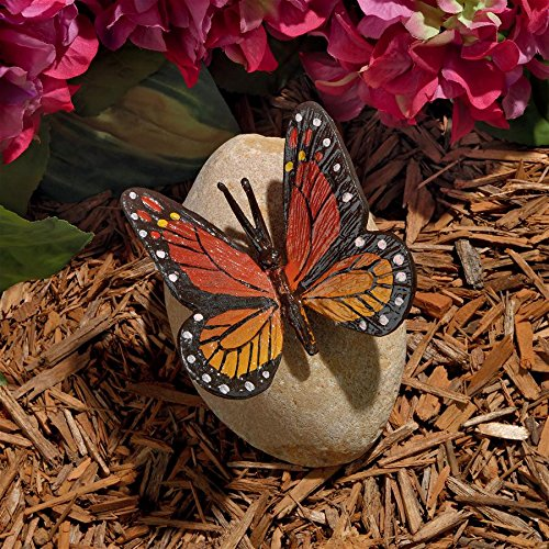 Design Toscano Viceroy Monarch Butterfly on Rock ()