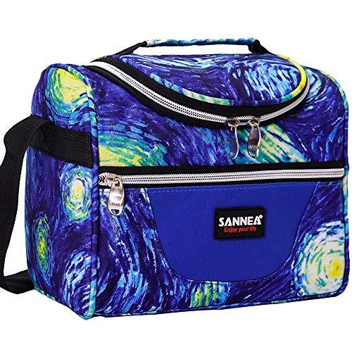 SANNE Large Lunch bag / Insulated Lunch Box / Cooler Bag  for Adult Women Men Work School Picnic Kids Girls Boys
