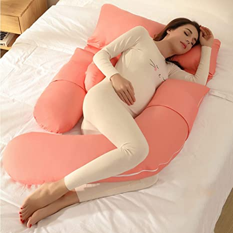 U Body Cotton Pillow Case Maternity Pregnancy Nursing Belly Knee Support