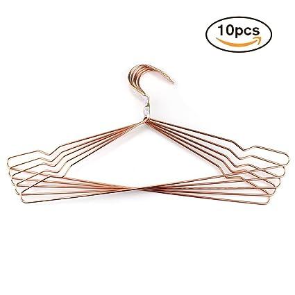 Amazon.com: LIKIQ Rose Gold Copper Wire Metal Hangers,Minimalist ...