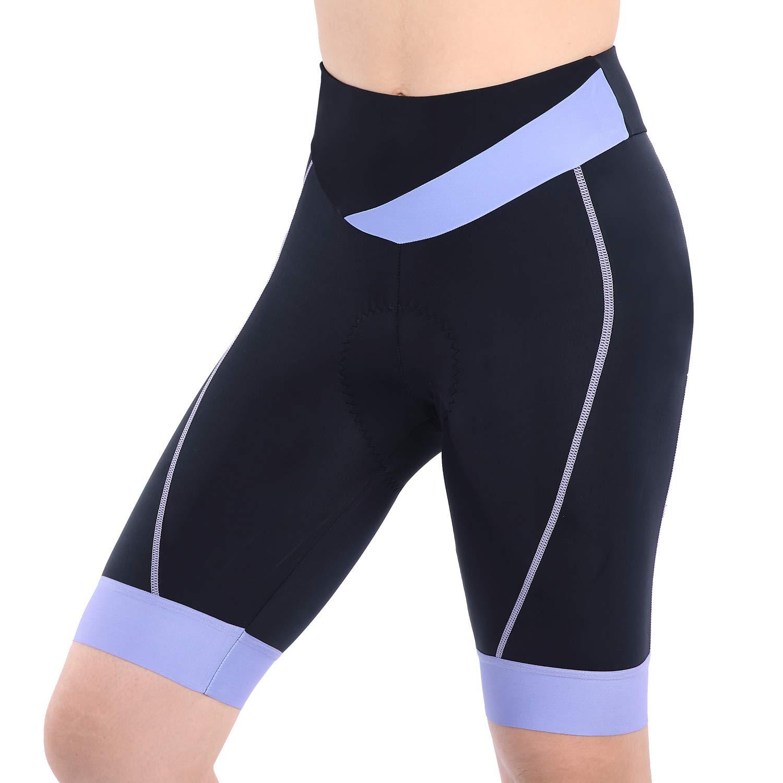 beroy Bike Shorts with 3D Gel Padded,Womens Gel Cycling Shorts(XXL,Purple)
