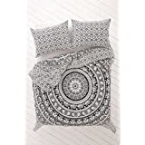 Elephant Mandala Duvet Cover Doona Cover Indian Cotton Quilt Cover Urban Duvet Blanket Cover Throw Queen Size Bedspread