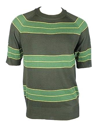 4bfea66a8 Unknown oem Kurt Cobain Sweater Green Striped Shirt Costume Nirvana Smells  Like Teen Spirit, Medium