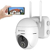 YESKAMO Pan Tilt Security Camera Wireless Indoor/Outdoor, 15000mAh Rechargeable Battery WiFi Camera 2 Way Audio, PTZ…