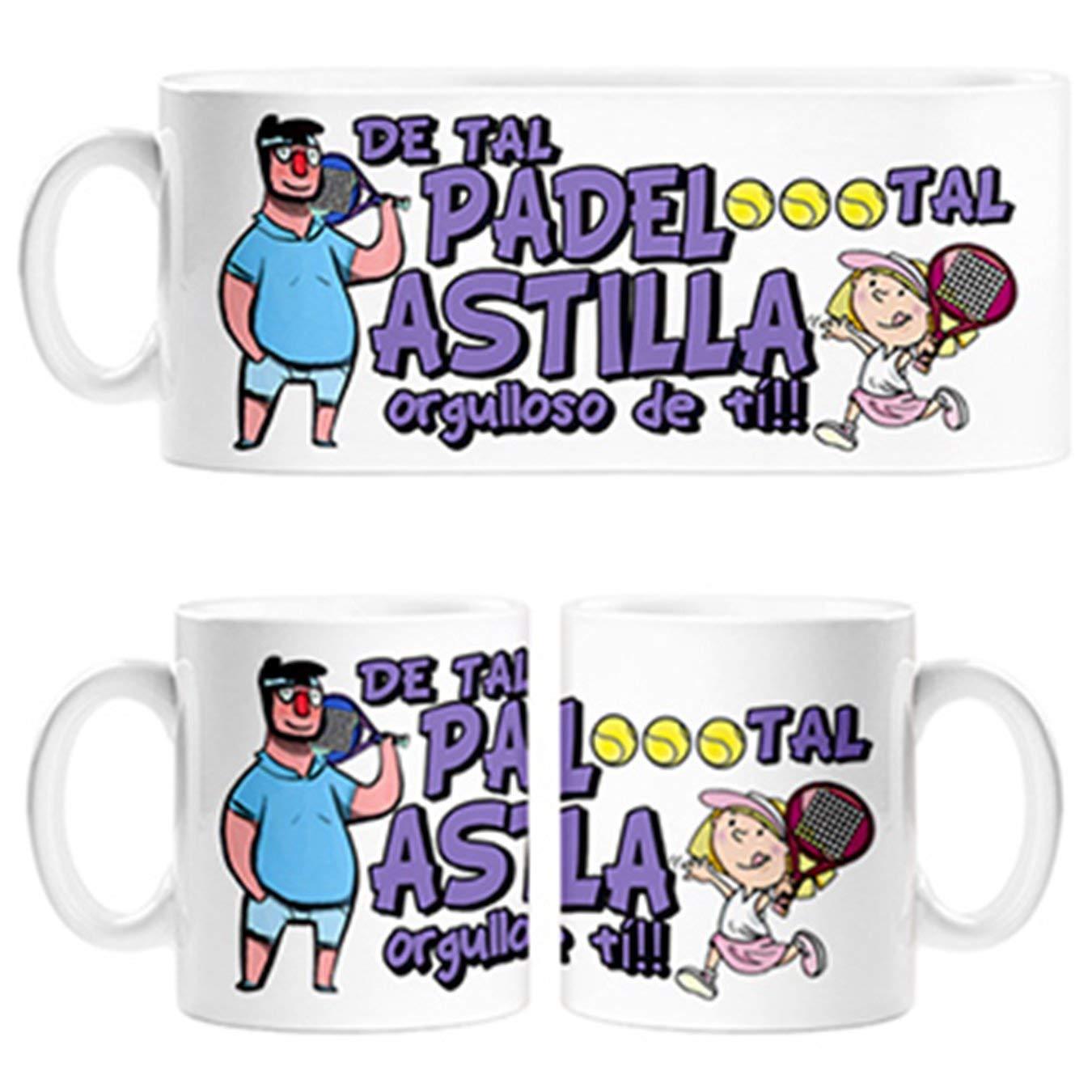 Taza Padre y niña de Tal Padel Tal Astilla Orgulloso de ti ...