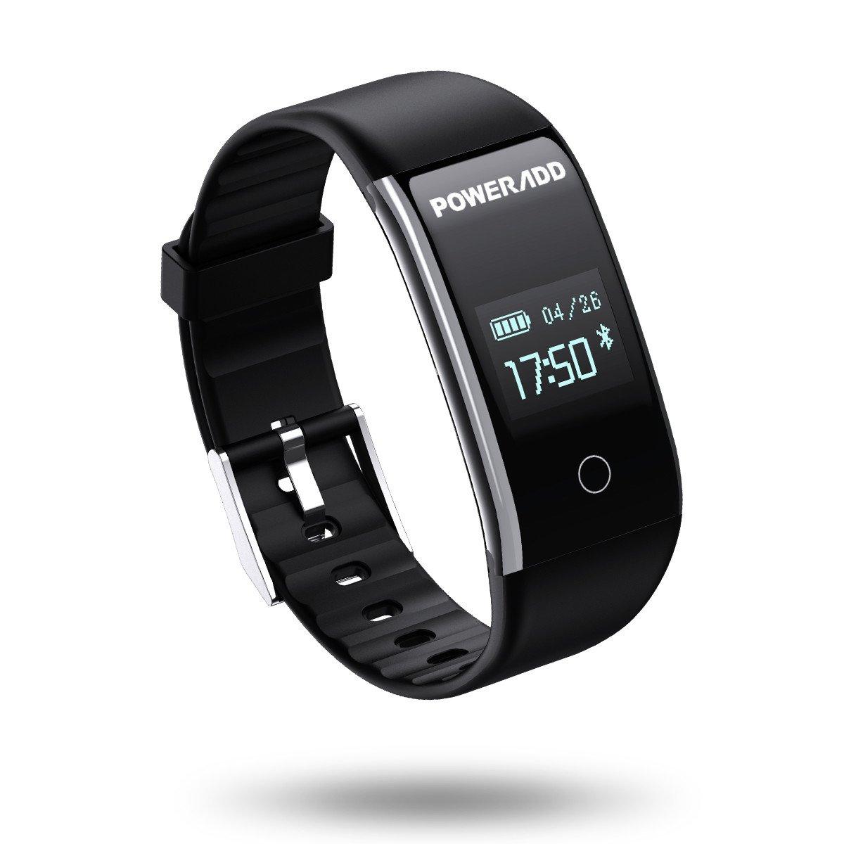 POWERADD Fitness Tracker Intelligente Cardiofrequenzimetro Multifunzione, Orologio Fitness Unisex Sia per Uomo Che per Donna, Impermeabilità IPX7 per iPhone Samsung Huawei Xiaomi