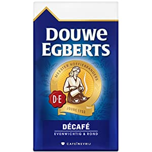 Douwe Egberts, Decaffeinated, Ground Coffee - Medium Roast, Decaf Coffee - Rich, Aromatic, and Smooth, Perfectly Balanced Flavor, 8.8 Ounce