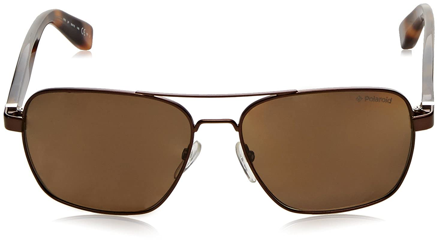 Amazon.com: anteojos de sol Polaroid Plus 0202 Marrón habana ...