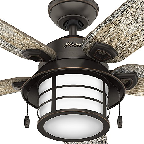 """Hunter Isleworth 54 Onyx Bengal Ceiling Fan With Light At: Hunter Fan Company 59273 Key Biscayne 54"""" Ceiling Fan With"""