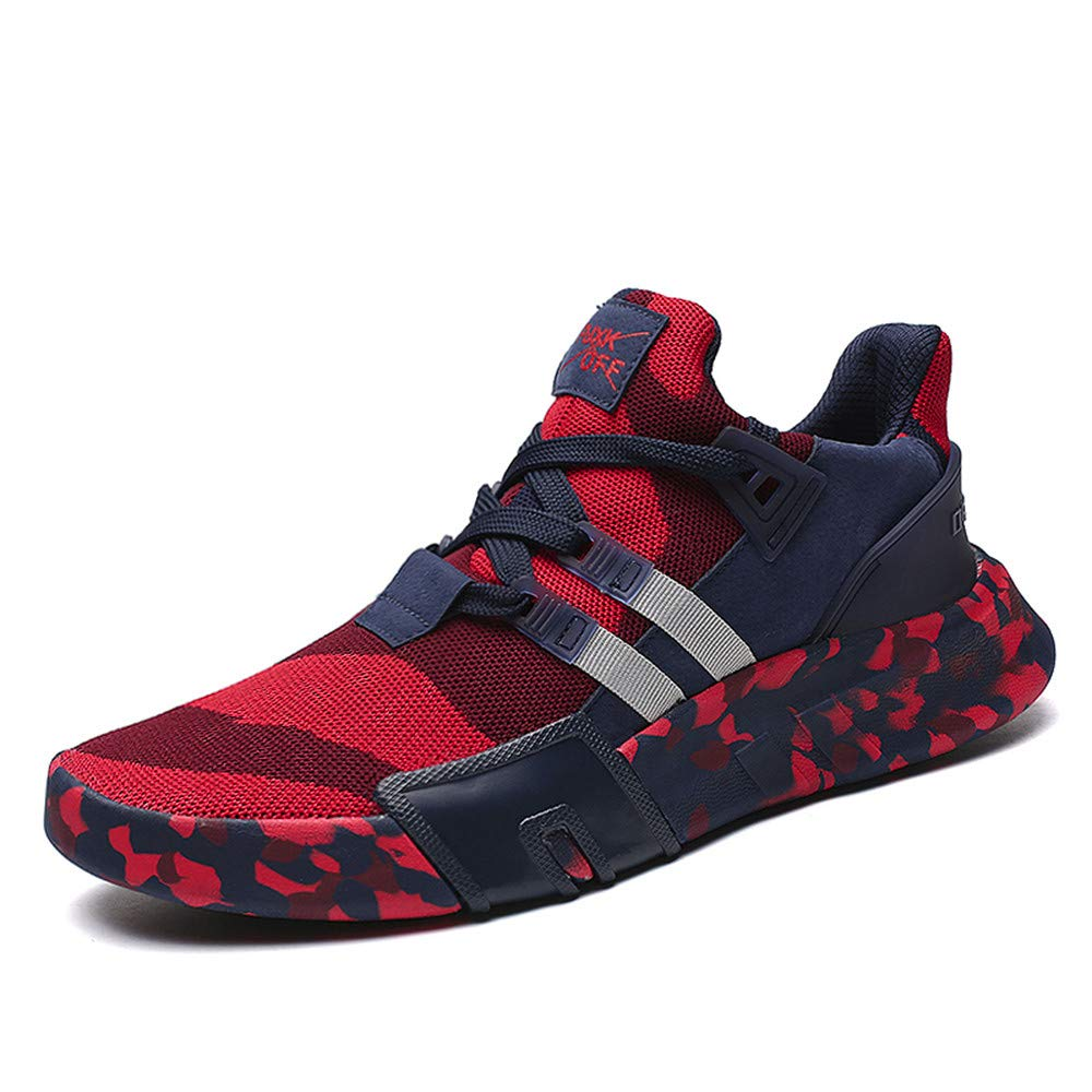 Sunyastor Mens Boys Casual Sneakers Sports Running Breathable Flat Camouflage Lace-up Walking Shoes