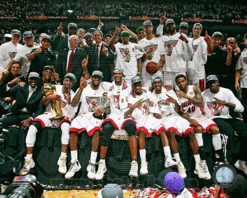 Miami Heat 2012 NBA Championship Team Celebration 8x10 - Championship Heat Miami