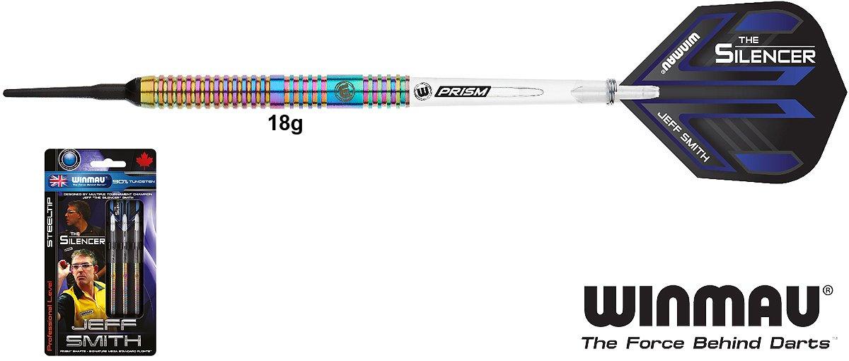 WINMAU Jeff Smith Darts 90/% Tungsten Softdarts 18g
