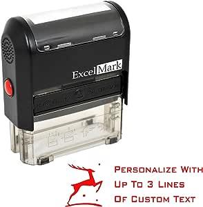 Amazon.com : Custom Self-Inking Christmas Rubber Stamp ...