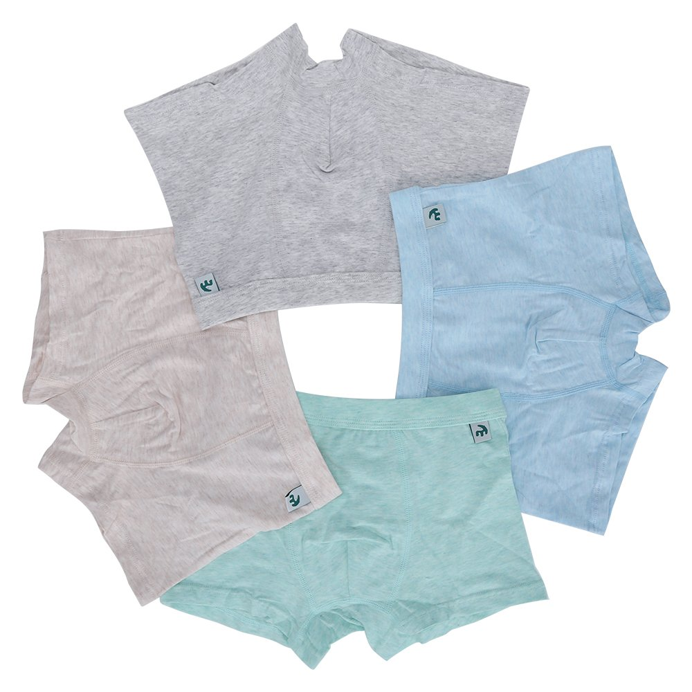 KiMiSUGOi Boy's Boxer Briefs of 4 Comfortable Cotton Underwears