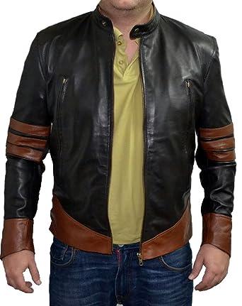 Wolverine Giacca in finta pelle da uomo, indossata da