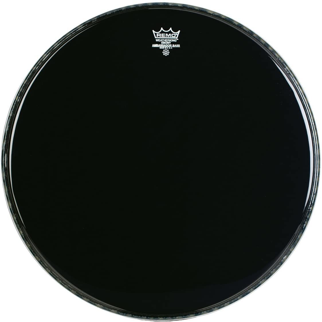 Remo ES1022-00 22-Inch Ebony Ambassador Bass Drum Head 61K8NMMFsVL