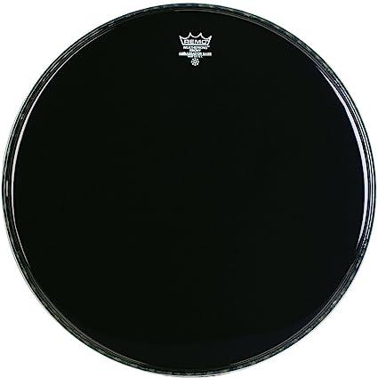 Remo Ebony Black Ambassador Resonant Bass Drumhead 20 in.