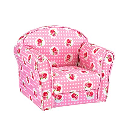 Panana Kids Children S Upholstered Armchairs Girl Boy Bedroom Playroom Seating Chair Rose