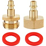 """2 PCS Winterize Blow Out Plug With 1//4/"""" Male Air Compressor Quick Connect And"""