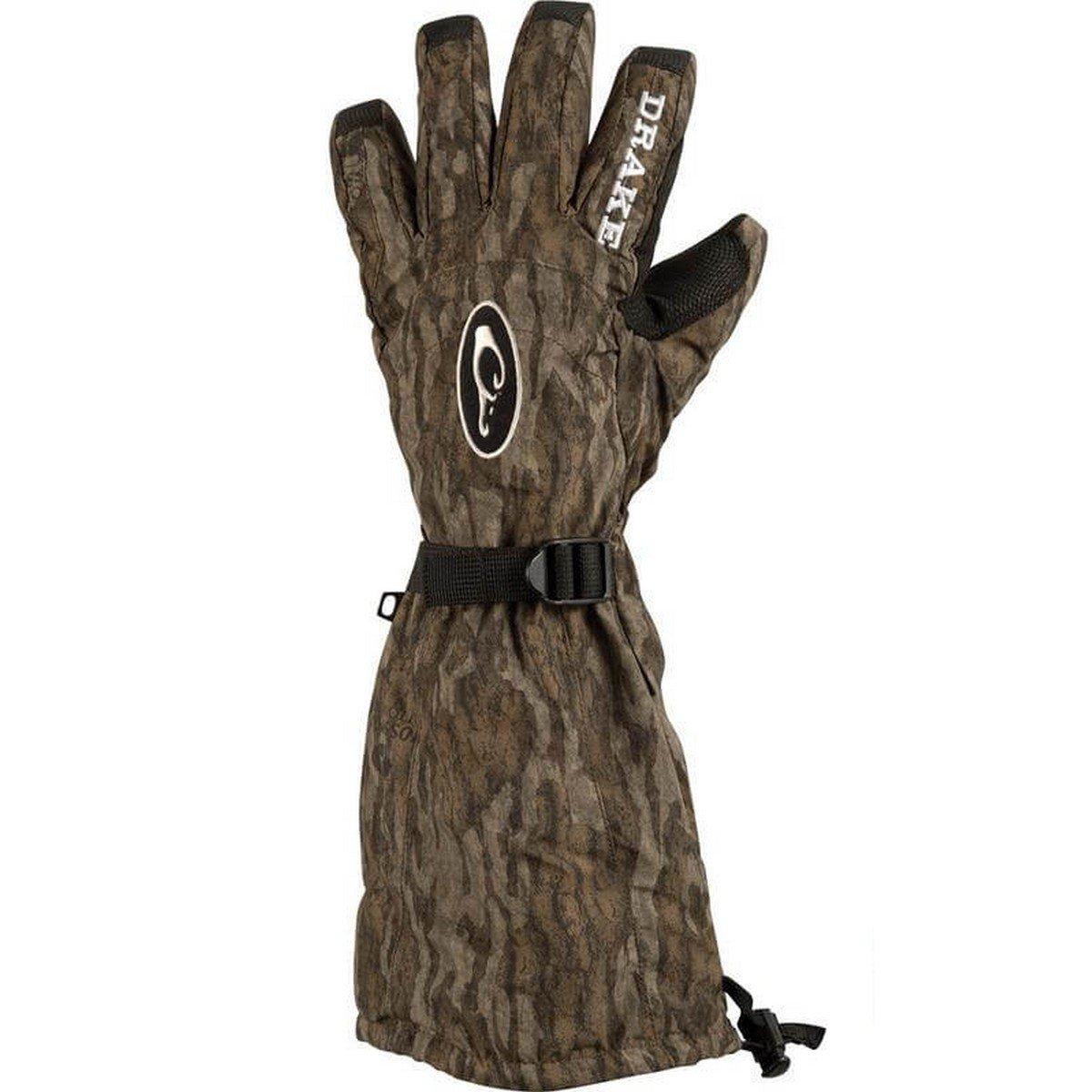 Drake Double Duty Decoy Glove Large Mossy Oak Bottomland by Drake
