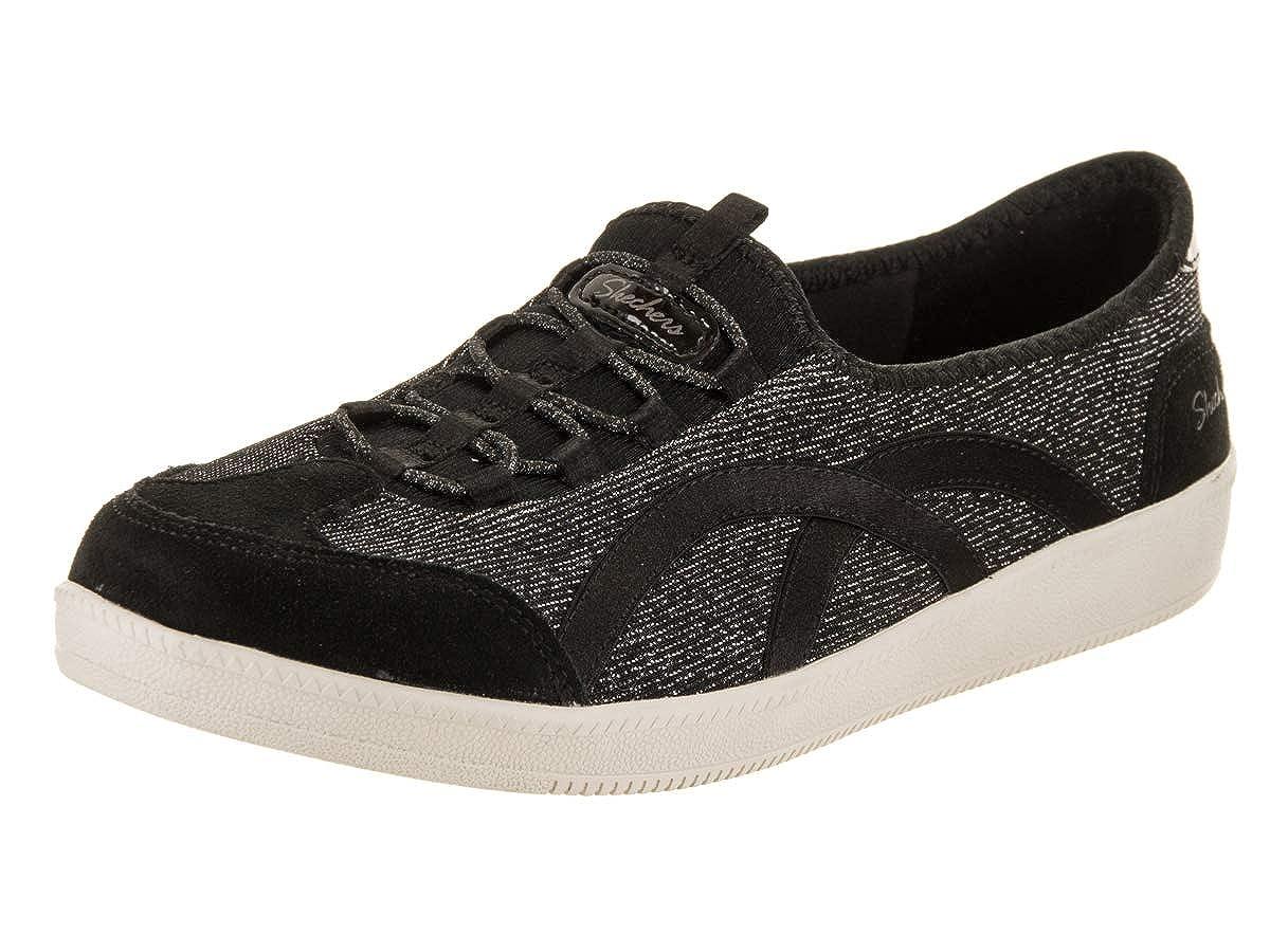 Skechers Women's Madison AVE-Urban Glitz Sneaker, BKW, 7.5 M US
