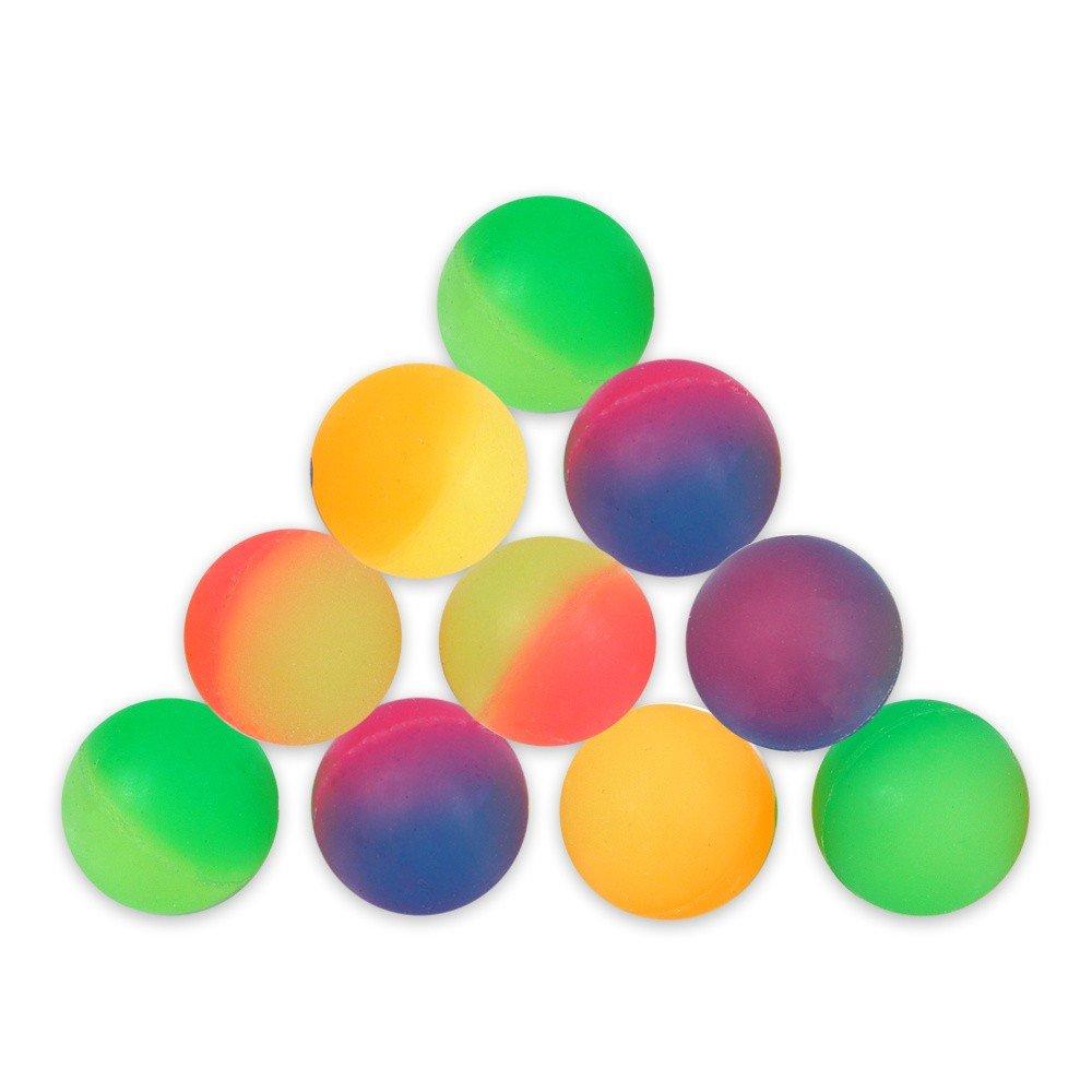 Schramm Onlinehandel Flummi–Paquete de pelotas, 10unidades, pelotas saltarinas, uso ideal tómbola, cumpleaños infantiles, pelotas de goma, 27mm, diseño de aspecto escarchado B00VV8QSF6