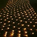 9.84ft × 6.56ft Transparency LED Fairy Mesh Net Lights, 204 Mini String LEDs, 8 Modes Decorative Lighting for Halloween, Christmas, Holiday, Party, Event, Warm White