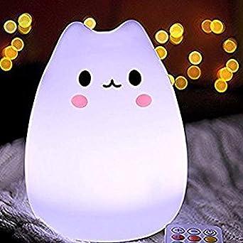 qucher Niños LED Luz nocturna, mando a distancia + tocar ...
