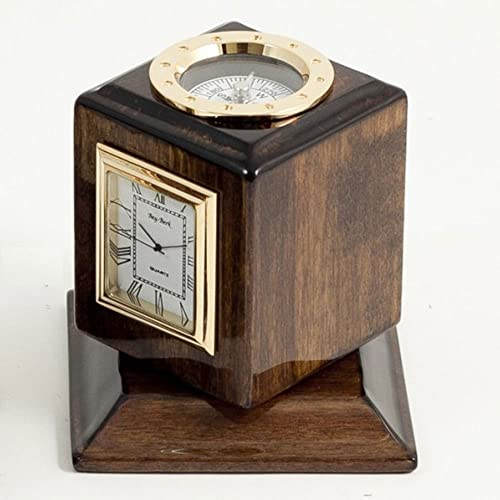 Bey Berk 3 Time Zone Revolving Desk Clock