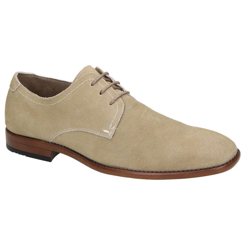Bottesini 840701 - zapatos con cordones de cuero hombre, color beige, talla 44