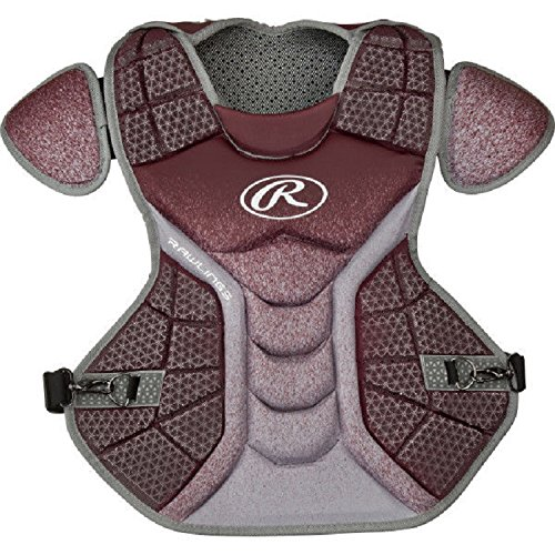 Rawlings CPVELI Maroon / Gray Velo Intermediate Chest Protector 15.5'' Ages 13-15 by Rawlings