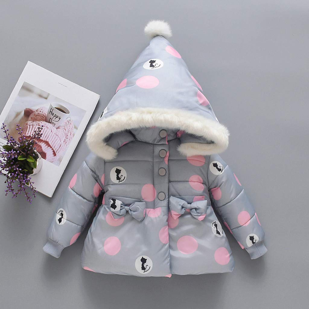 Fur Collar Hooded Down Outerwear-RQWEIN Winter Coats for Kids with Hoods Light Puffer Jacket for Boys Girls Infants