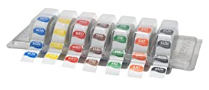"DayMark Day of The Week 1"" Octagon Removable Labels, MON-Sun, Label Dispenser Included (7,000 Labels)"