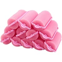 Sungpunet 12pcs Popular Soft Sponge Hair Curler Rollers Cushion Random Color