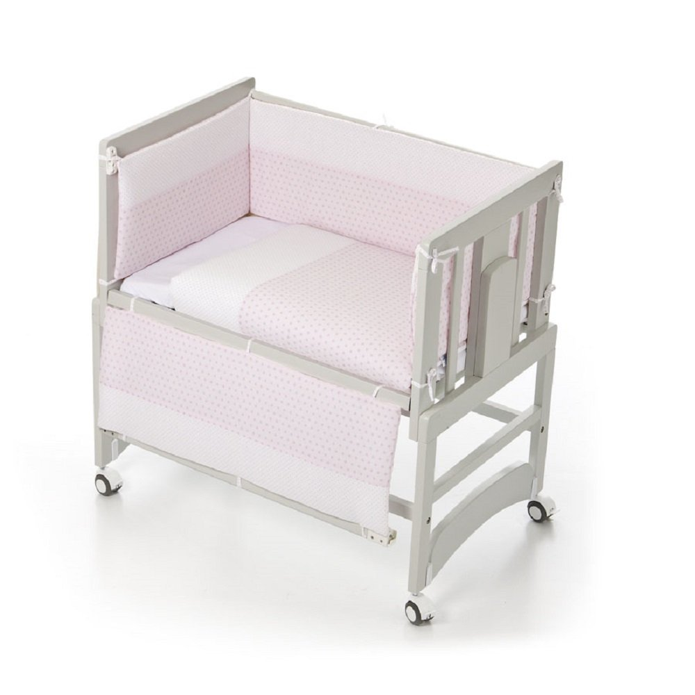 Bolín Bolón - Minicuna de colecho allegra (50 x 80 cm.) + textil angy rosa: Amazon.es: Bebé